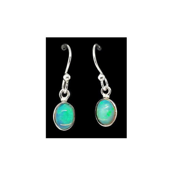 Ethiopian Opal Dangle Earrings