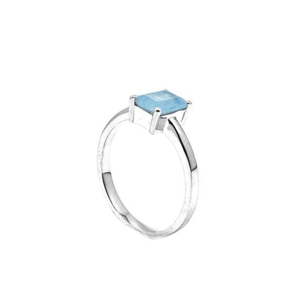 Aquamarine / Sterling Silver Ring