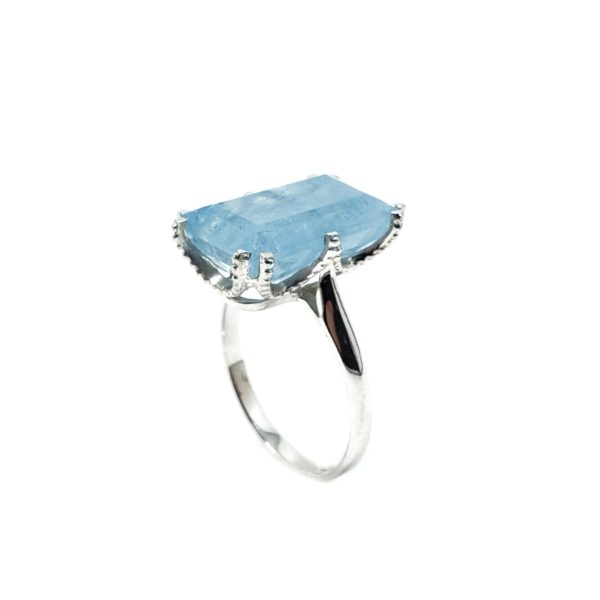 AAquamarine Stone / Sterling Silver Ring