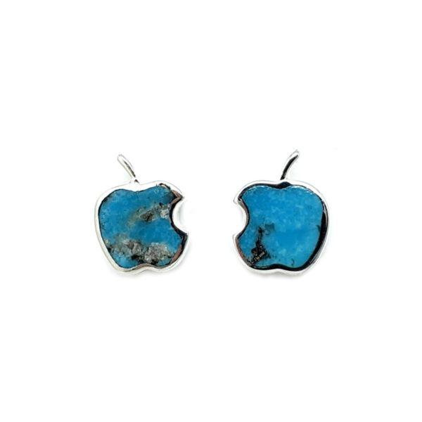 Turquoise Apple Shape Stud Earrings