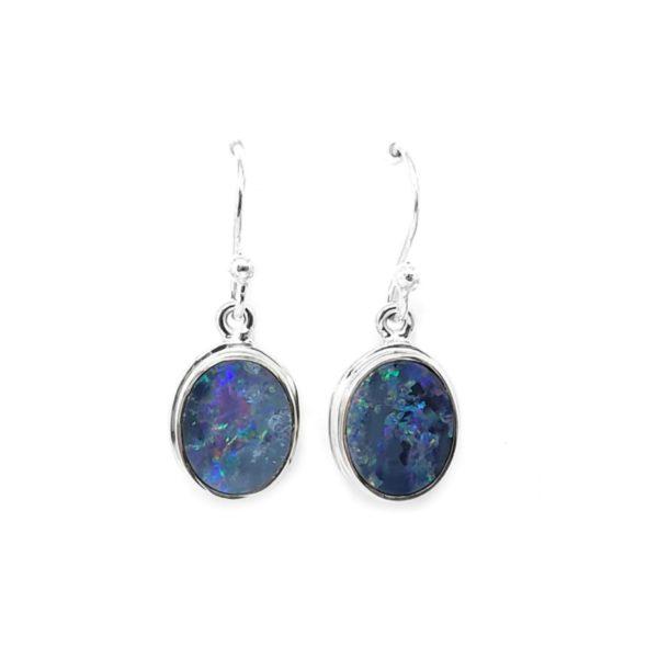 Opal Doublet Dangle Earrings