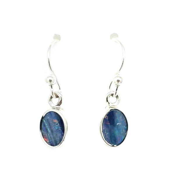 Australian Opal / Silver Dangle Earrings