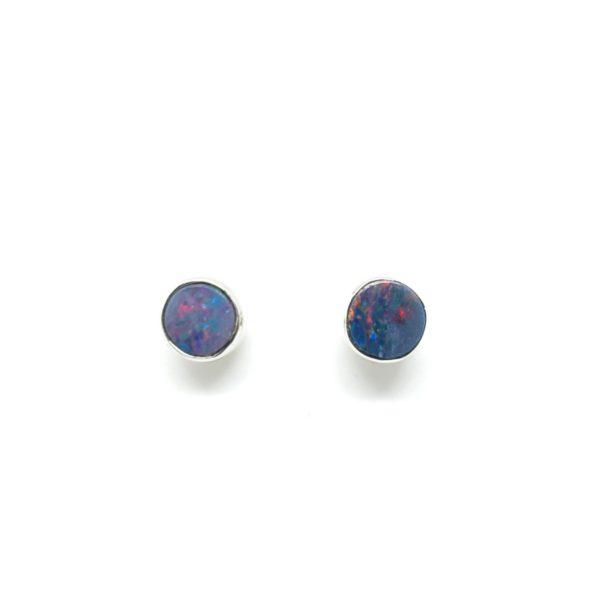 Opal Doublet Small Stud Earrings
