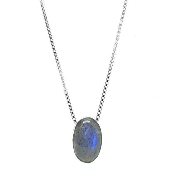 Labradorite / Sterling Silver Necklace