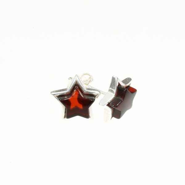 "Cherry Amber ""Star"" Stud Earrings"