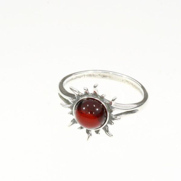 """Cherry Amber """"Sun"""" Ring"""