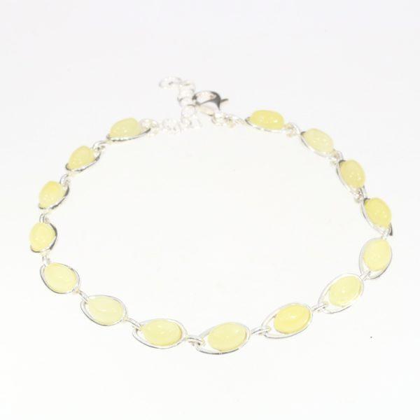 Butterscotch Amber Sterling Silver Link Bracelet