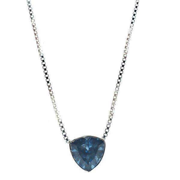 Swiss Blue Topaz / Silver Necklace