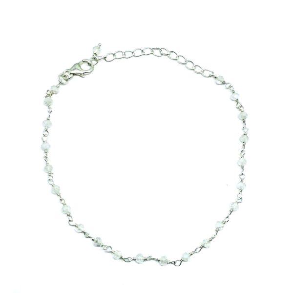 Moonstone / Silver Link Bracelet