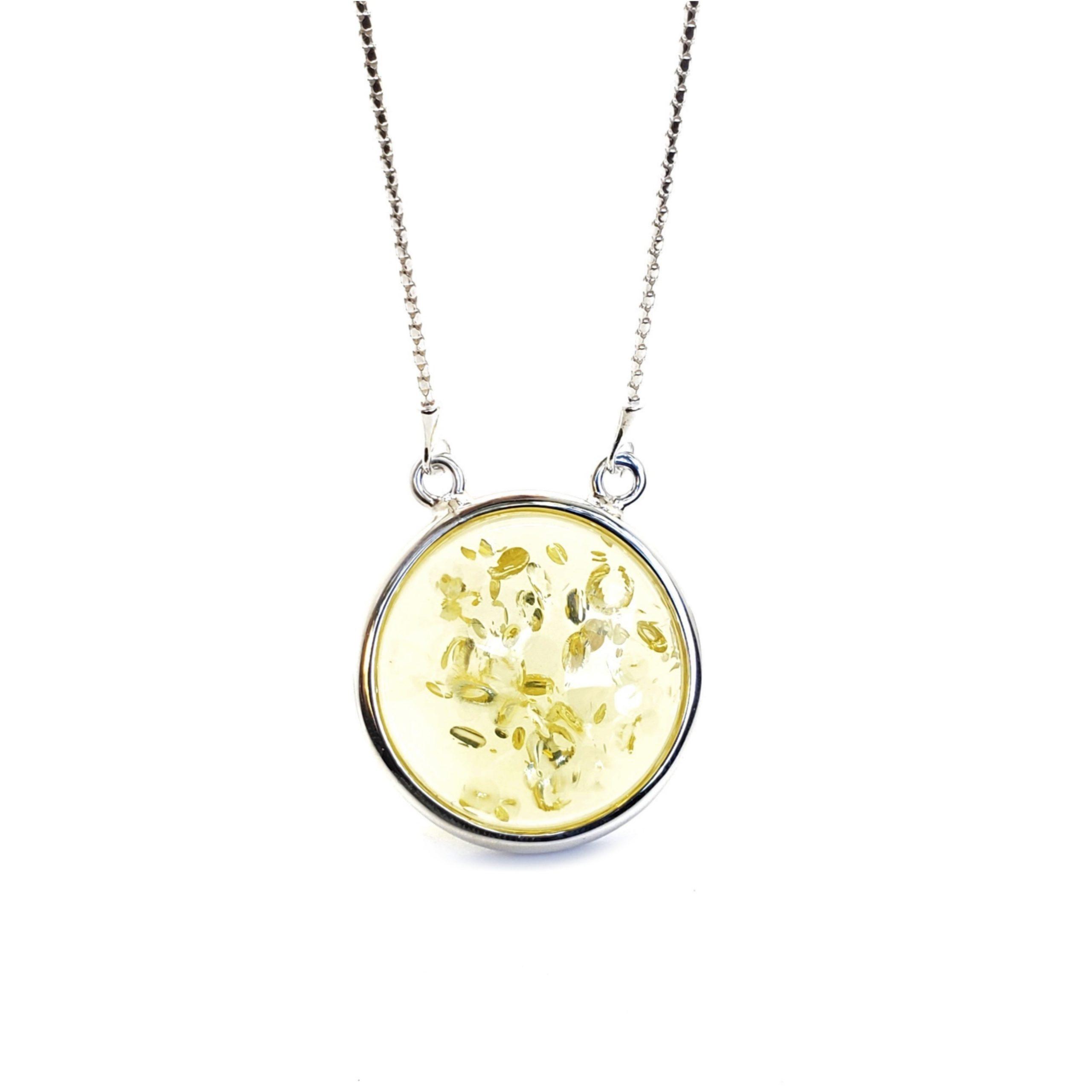 Citrine Color Amber Sterling Silver Adjustable Necklace