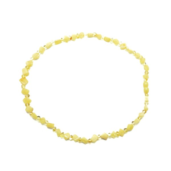 Butterscotch / Citrine Amber Bead Necklace