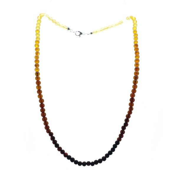 """Matte Finish Amber """"Rainbow"""" Necklace For Pendants"""