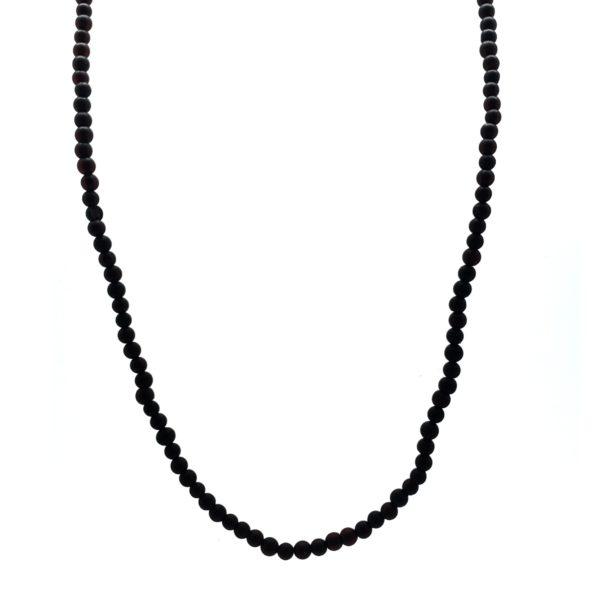 Dark Cherry Matte Finish Amber Necklace For Pendants