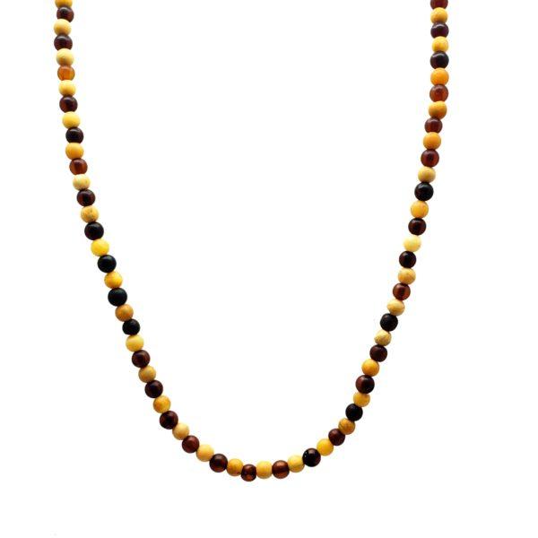Multi Color Amber Matte Finish Necklace For Pendants