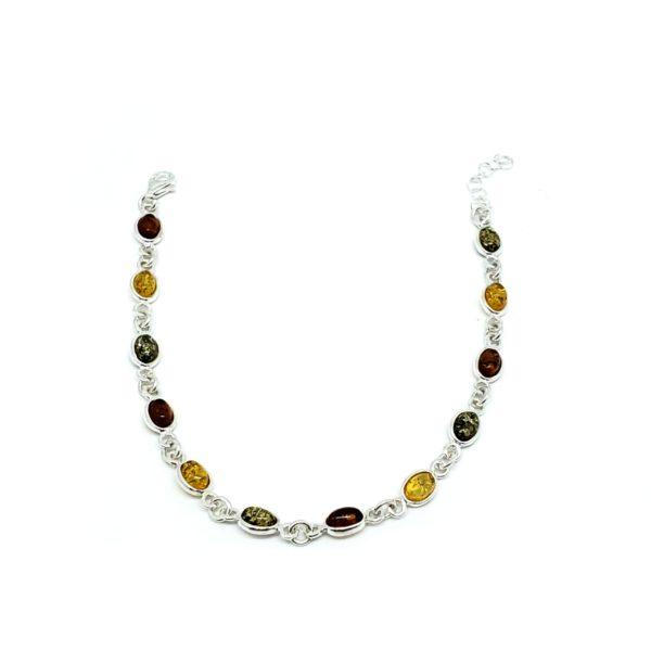 Multi Color Amber Small Link Bracelet