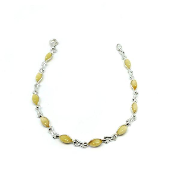 Butterscotch Amber .925 Silver Link Bracelet