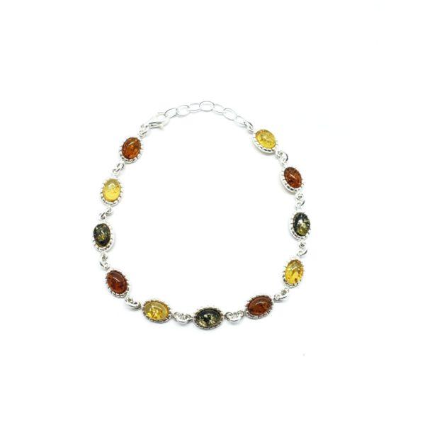 Multi Color Amber Link Bracelet