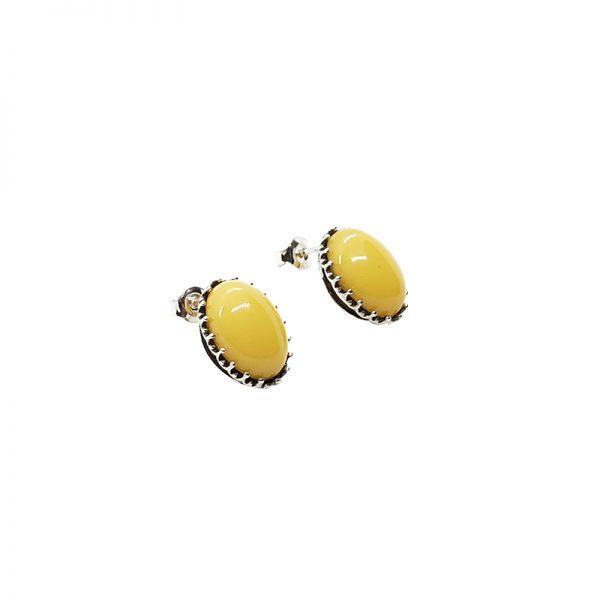 Butterscotch Amber Sterling Silver Stud Earrings