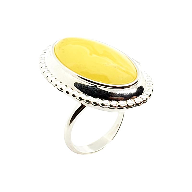 Butterscotch Amber Locket / Poison Adjustable Ring