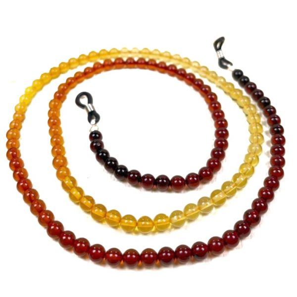 """Multi Color """"Rainbow"""" Amber Eyeglass Necklace / Chain"""