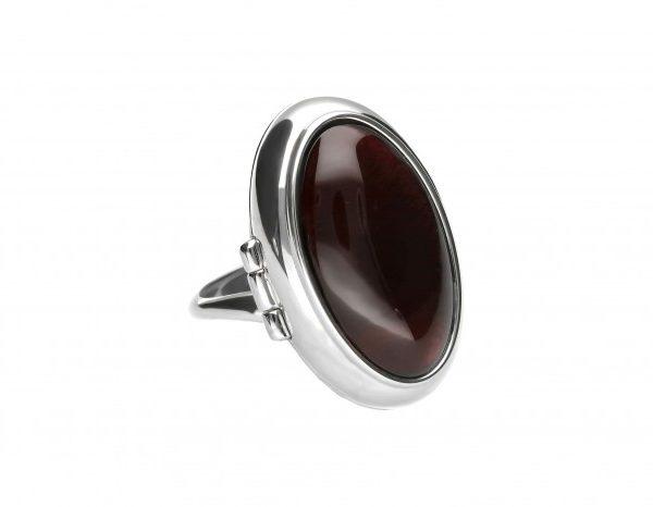 Cherry Amber Locket / Poison Adjustable Ring