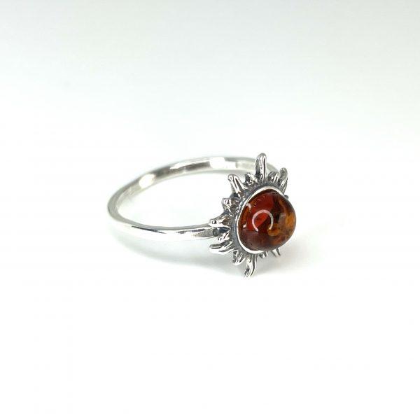 "Cognac Amber ""Sun"" Ring"