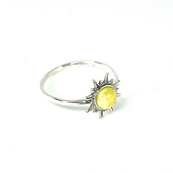 """Butterscotch Amber """"Sun"""" Ring"""