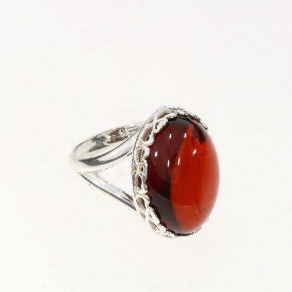 Cherry Amber Adjustable Ring